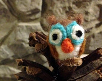 Cute Handmade Needle Felted Owl