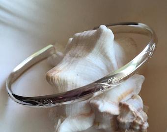 Sterling Silver Oval Cuff Bracelet-Boho Cuffs