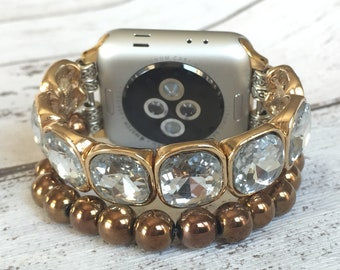 Apple Watch Band 38mm Women Apple Watch Strap Apple Watch Bracelet Jewelry iwatch band 42mm Beaded Gift for Women Mothers Day Gift for Her
