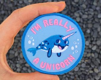 I'm Really A Unicorn Iron On Patch
