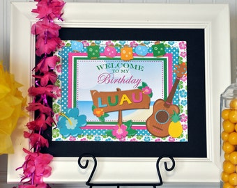 Luau Welcome Sign, Luau Decoration, Luau Birthday Party, Luau Invitation, Luau  Birthday, Luau Birthday Decorations, Luau Party Package