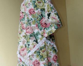 Large floral eyelet dress