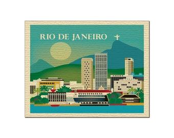 SALE Rio De Janeiro, Brazil Greeting Card 4.5 x 5.5 inches, Loose Petals City Art - style O-RIO