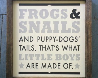 Frogs & snails.. Wall sign