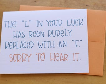 L in Luck Card
