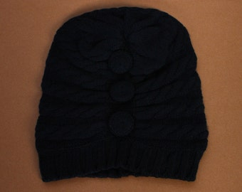 Black Bella Cashmere Hat