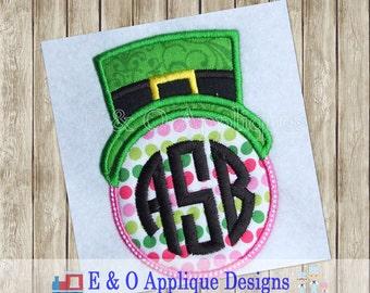 Leprechaun Monogram Frame Applique Design - St Patrick's Day Monogram Applique Design - Machine Embroidery -Digital Design -Instant Download