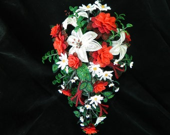 Custom Made to Order French Beaded Flower Bridal Bouquets