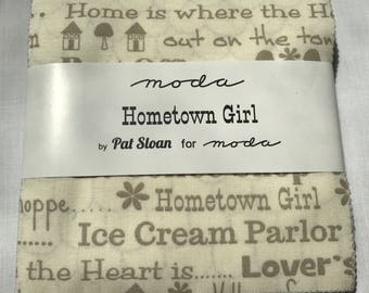 Moda Hometown Girl Prints Charm Pack by Pat Sloan
