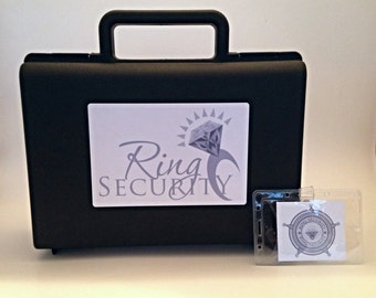 Silver Ring Security Briefcase with Badge