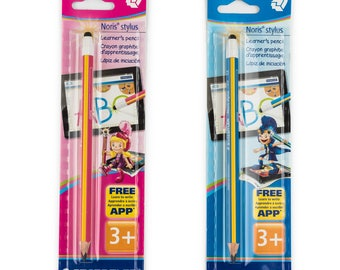 Staedtler Noris Stylus Jumbo thick triangular pencil with touch screen end