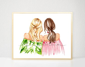 Best Friend Gift, Best Friend Birthday Gift, Gift for best friend, Best friends gifts, Sister gift, Gift for sister Sisters INSTANT DOWNLOAD