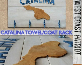 Catalina Coat Rack with boat cleat hooks