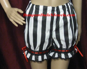DDNJ Steampunk Gothic Pirate Booty Bloomers Pantaloon Costume Larp Anime Lolita Plus Custom Made ANY Size Victorian Wench Medieval Halloween