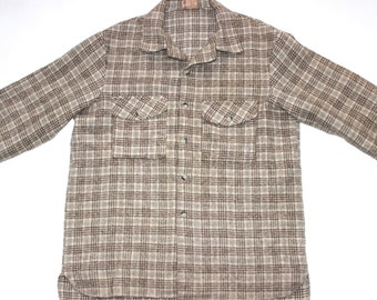 "XL Mens Wool Vintage Shirt, Outdoors Shirt, 1970s, 44"" Chest, New Zealand, XL Mens, Fishing Shirt, Wool Shirt, Hunting Shirt, Bush Shirt *"