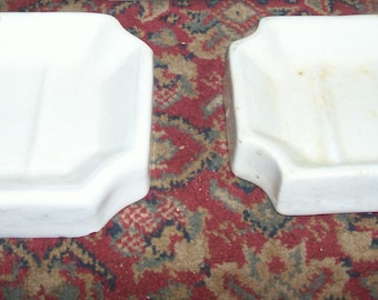 2 antique porcelain soap dishes -one made in England