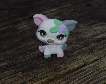 Littlest Pet Shop Custom OOAK LPS Pig White+Pink+Gray+Flower