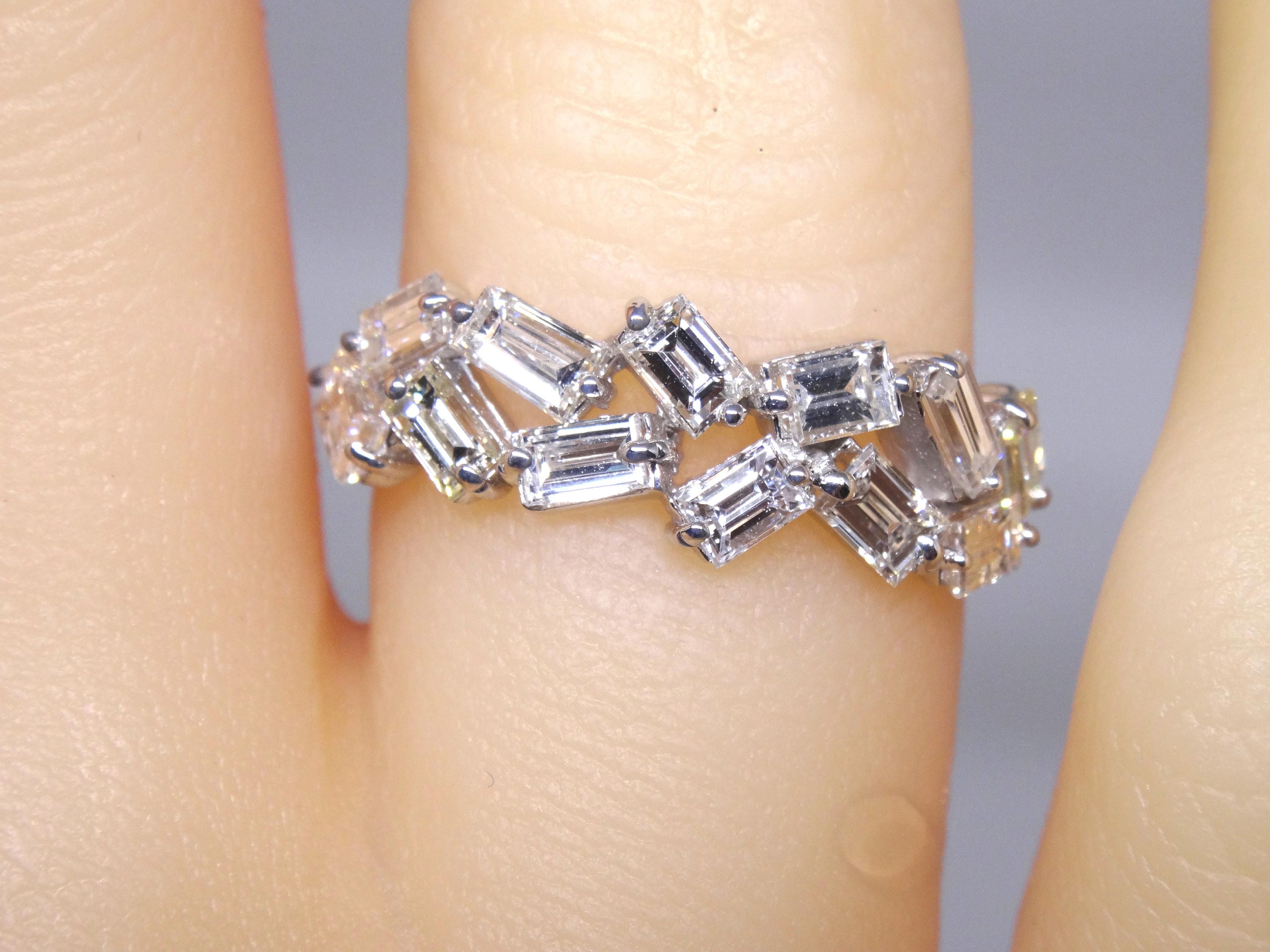 on band and gold year anniversary white images rings baguette about diamonds diamond pinterest bands