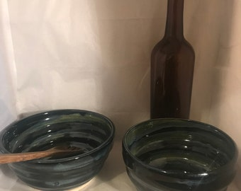 Handmade Spiral Ceramic Bowl Set