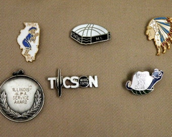 Various Vintage Womens Bowling Souvenir Pin / 13 Different Styles Available