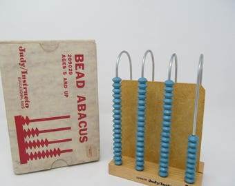 Abacus - Vintage Abacus in original box - Teachers, Home School, Counting Beads, Math Teaching Tool, History Teaching Tool