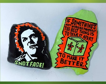 """15-10114 Hand-Painted """"Drop Dead Fred"""" Rocks (Set of 2)"""