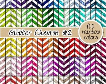 SALE 100 Glitter chevron digital paper rainbow glitter digital paper chevron glitter background metallic glitter gold chevron silver chevron