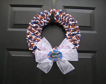 Beaded Team Colors Wreath Custom Any School