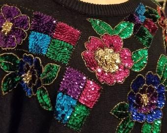Vintage sequin sweater