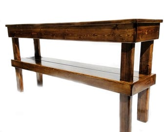 Farmhouse Media Table, Rustic Console Table, Reclaimed Wood Table, Rustic Furniture Decor Indoor / Outdoor Entry Table