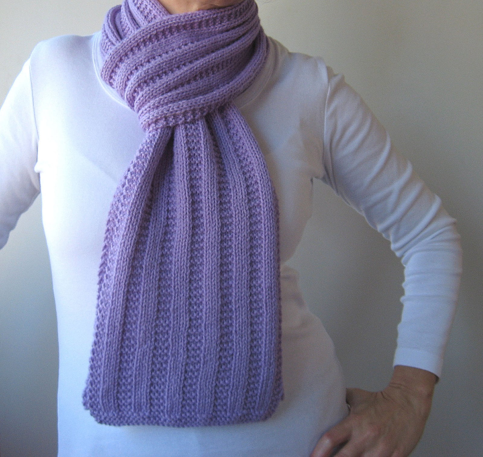 Old Fashioned Ribbed Knit Scarf Pattern Motif - Blanket Knitting ...
