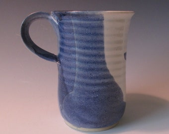 Cobalt Blue and White Mug. Coffee, Tea, Hot Chocolate