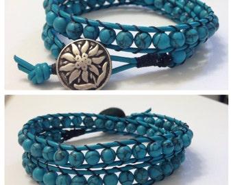 Double wrap beaded bracelet
