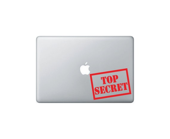 Top secret macbook decal macbook stickers laptop decal