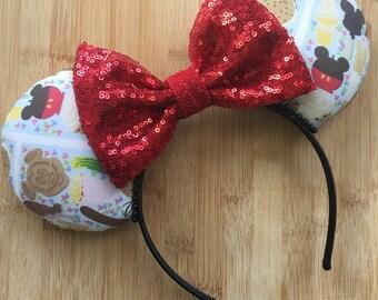 Snack Food Ears, Mouse Shaped Food Ears, Snack Ears, Snack Food Mouse Ears, Minnie Ears, Disney Ears, Mickey Snack Ears