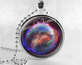 GALAXY Pendant Necklace, Nebula Outer Space Necklace, Galaxy Jewelry, Supernova Photo Art Jewelry, Galaxy Necklace, Space Jewelry