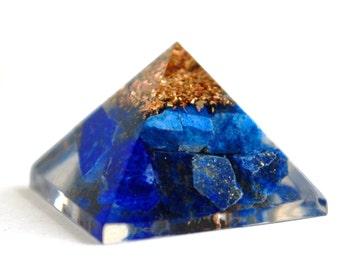 Lapis Lazuli Crystal Orgone Pyramid Gift