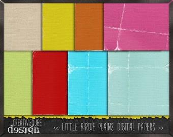 Digital paper, Digital Scrapbook paper pack - Instant download - 12 Digital Papers - Little birdie plains