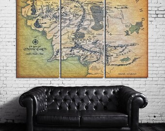 the lord of the rings middle earth wall decor tolkien map canvas middle earth wall decor middle earth canvas middle earth map lotr picture