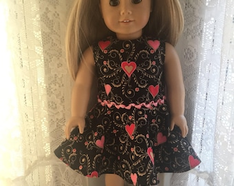 Hearts for your Valentine dress for 18 inch dolls