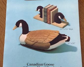 Canadian Goose soft sculpture, Canadian Goose bookends, Calico Goose soft sculpture, Snow Goose soft sculpture, corduroy goose sculpture