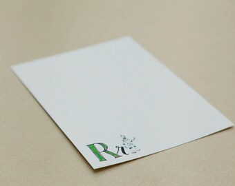 Personalised Letter Stationery - R is for Robot