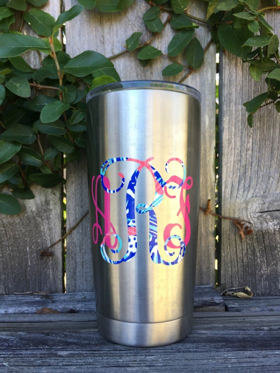 Dual Color Lilly Pulitzer Decal - Perfect for your Yeti!