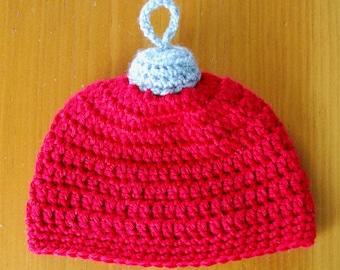 Christmas Ornament Hat, Ornament Hat, Crochet Christmas Ornament Hat - Baby to Adult sizes available, Christmas Gift idea, Baby Gift Idea