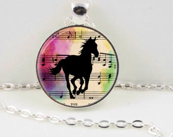 Horse Necklace, Horse Pendant, Horse Jewellery, Silhouette Jewellery, Jewelry, Horse Lover, Gift for Her, Australian Made