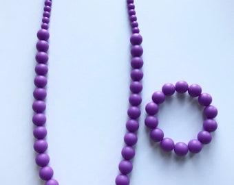 Sale- Dark Purple Pearl Style Set
