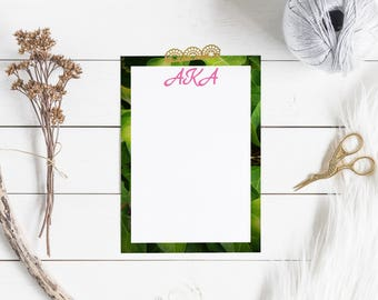"Alpha Kappa Alpha Sorority - inspired Note Card Set, 5x7"""