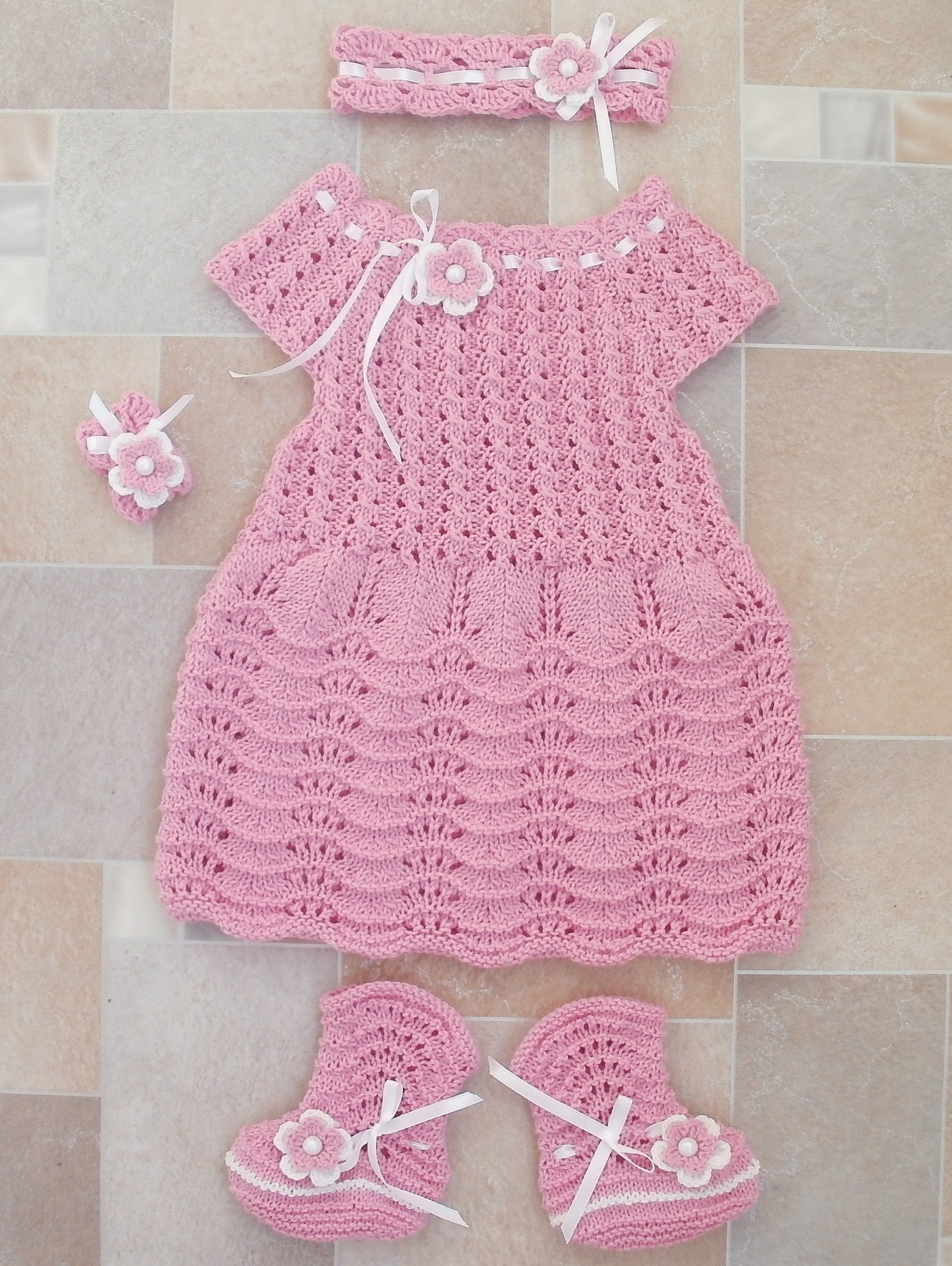 pink dress baby girl ing home outfit knitted dress socks