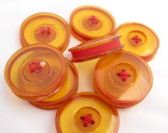 Vintage Apple Juice Bakelite Buttons