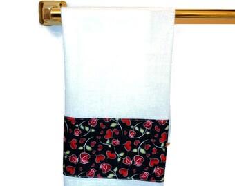 Heart Dish Towel, Hearts, Kitchen Hand Towel, Hand Towel, Dish Towel, Tea Towel, Heart Decor, Heart Tea Towel, Flour Sack Towel